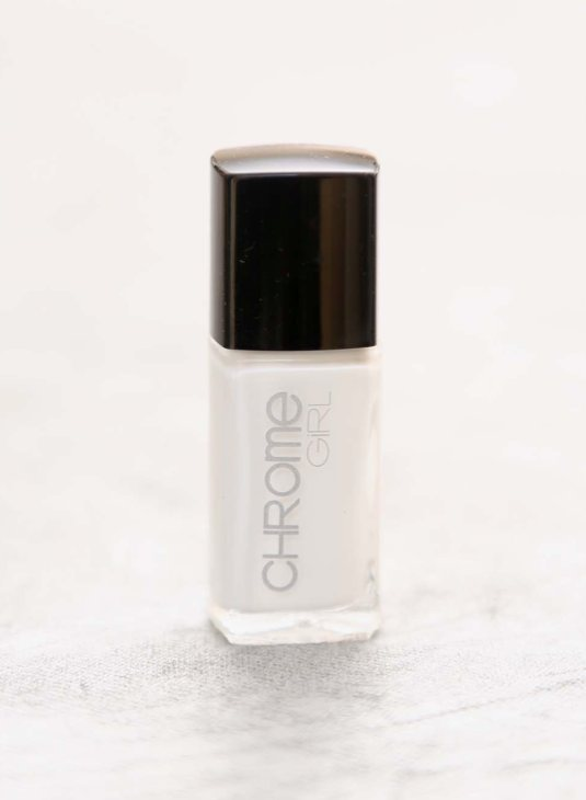 chrome girl WHITE nail polish FashionDailyMag