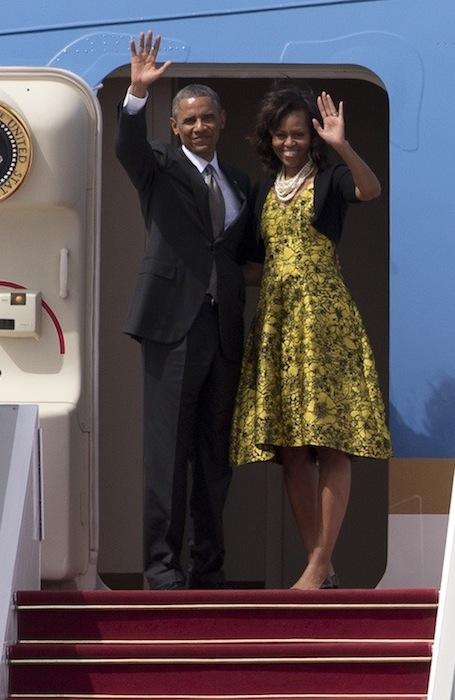 michelle obama wears lela rose   fashiondailymag