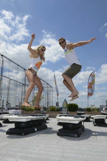 "Kellan Lutz and Katrina Bowden Host Op's ""Surf for Life"" Event"