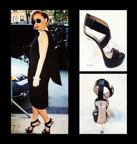 Lady Gaga in Ruthie Davis FashionDailyMag 2