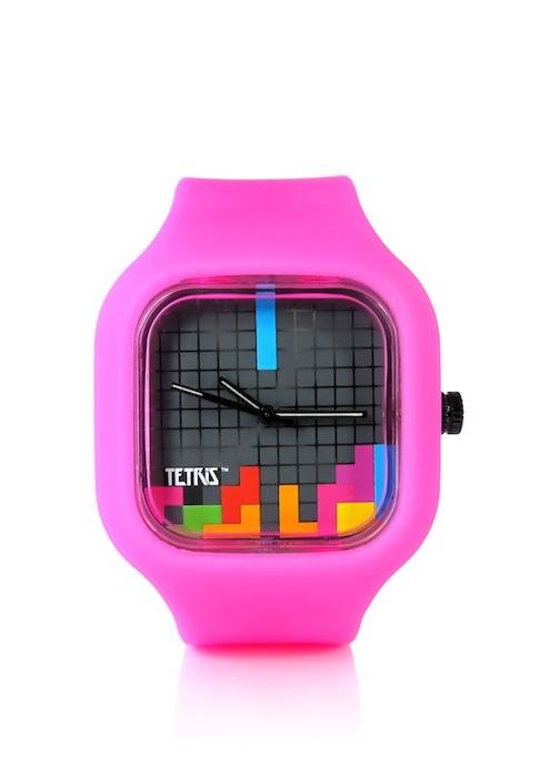 Tetris with pink strap MODIFY geek chic FashionDailyMag