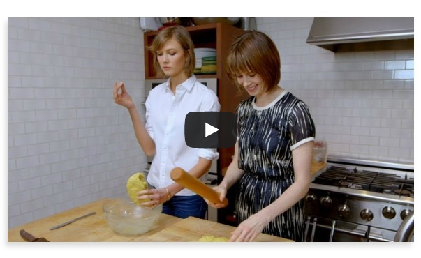karlie kloss with elettras goodness Vogue on FashionDailyMag
