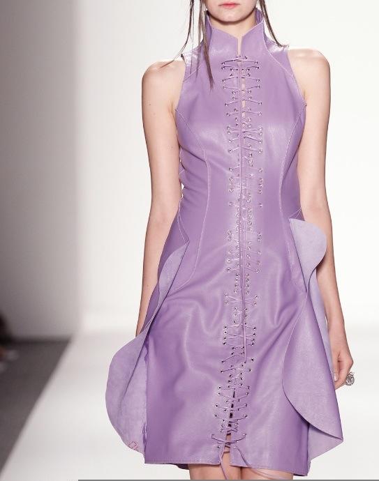 katya leonovich spring 2014 leather FashionDailyMag