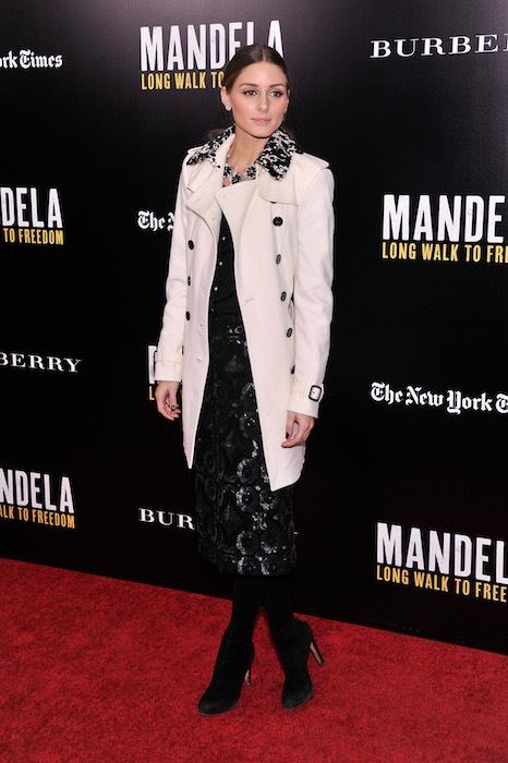 OLIVIA PALERMO U2 And Anna Wintour Host A Special Screening Of Mandela: Long Walk To Freedom, In Partnership With Burberry And The New York Times