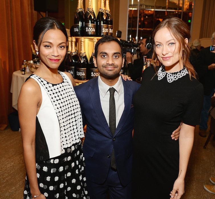 Zoe Saldana, Aziz Ansari and Olivia Wilde  71st Annual Golden Globe Nominations with Moet & Chandon