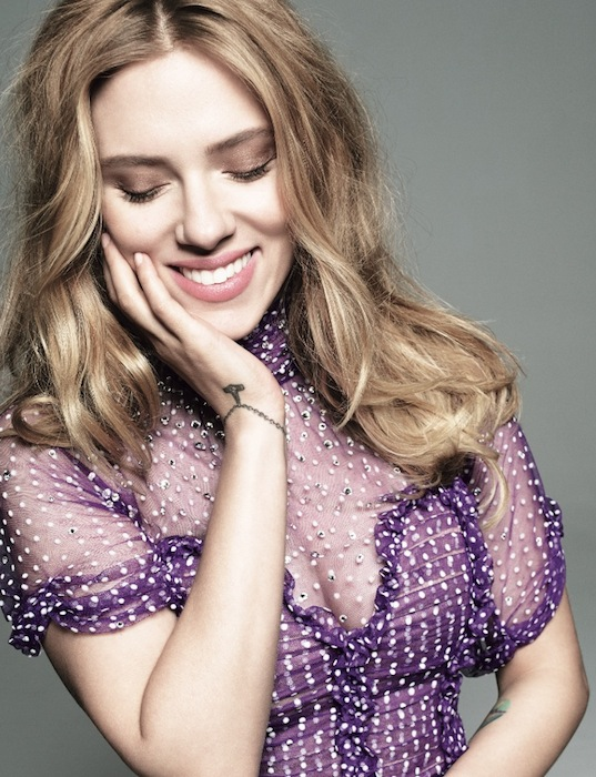 Scarlett Johansson in blumarine by Tom Munro Glamour May | fdmloves