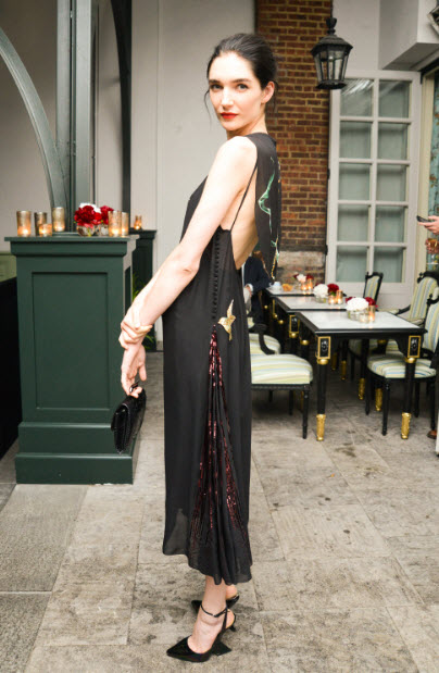 Janice Alida in Dior at CFDA 2014 awards FashionDailyMag