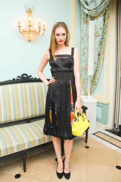LAURA LOVE in dior at CFDA 2014 awards FashionDailyMag
