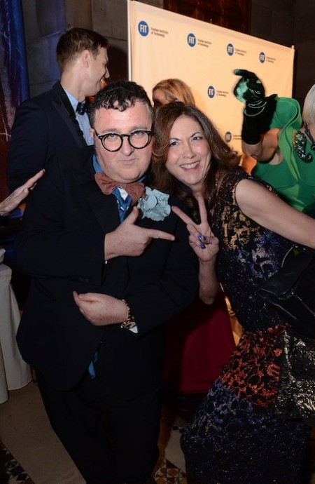 alber elbaz with brigitte segura fitgala2014 FashionDailyMag