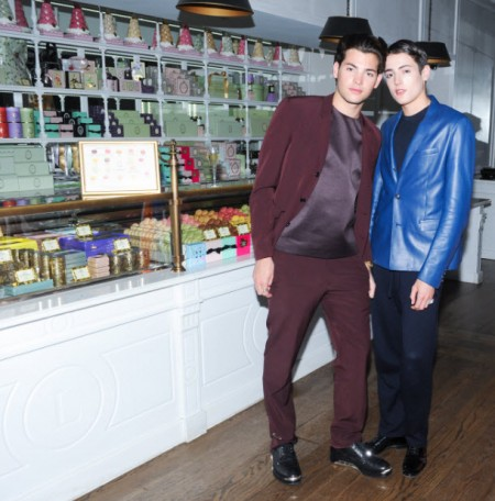 peter brant and Harry Brant in Dior Homme at 2014 cfda awards FashionDailyMag