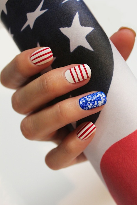 NAIL ART by jin soon red white blue | FashionDailyMag