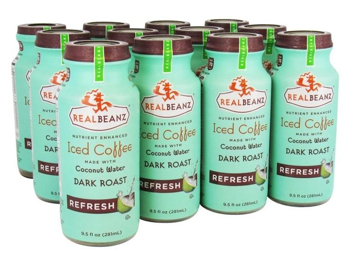 REALBEANZ iced coffee coconut water dark roast FashionDailyMag
