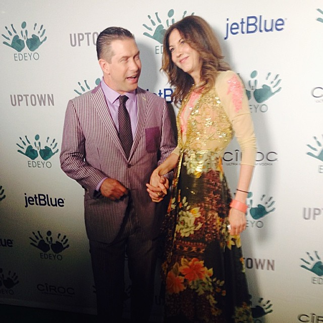 stephen baldwin brigitte segura Edeyo gives hope ball FashionDailyMag sel 1