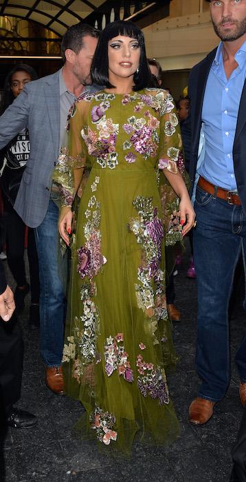 Lady Gaga wearing Valentino in Brussels FashionDailyMag