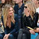 CARA DELEVINGNE front row at BURBERRY ss15 womenswear