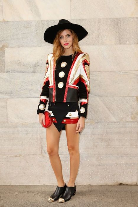 chiara ferragni in just cavalli at Roberto Cavalli ss15 FashionDailyMag