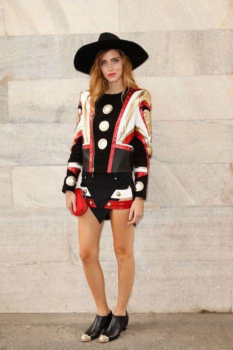 chiara ferragni in just cavalli at Roberto Cavalli ss15 FashionDailyMag