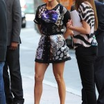 J LO spotted in patterns at American Idol