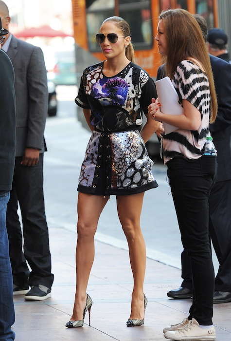 "Jennifer Lopez arriving at ""American Idol"" Auditions"