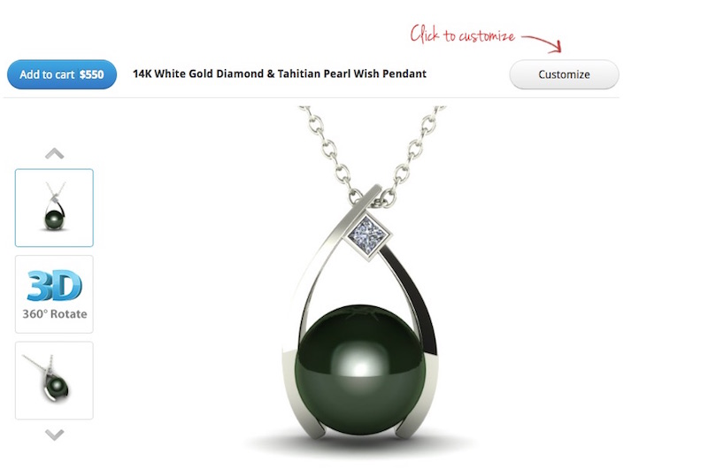 3D design american pearl tahitian necklace FashionDailyMag