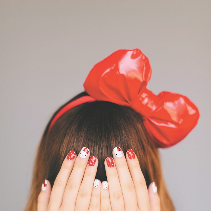 Hello Kitty Nail Art Fashion Daily Mag sel 3