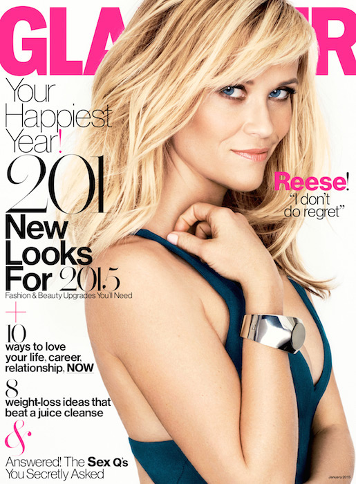 reese witherspoon Glamour January Cover