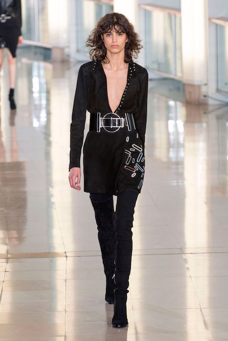 mica arganaraz anthony vaccarello fall 2015 FashionDailyMag sel 2