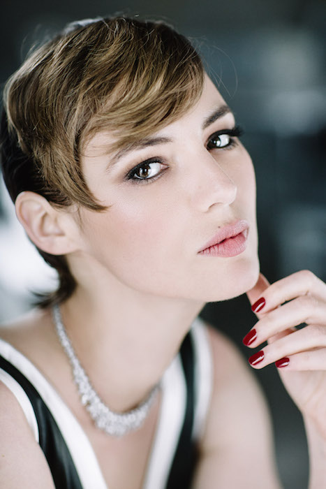 Actress Louise Bourgoin attends amfAR's 22nd Cinema Against AIDS Gala FashionDailyMag