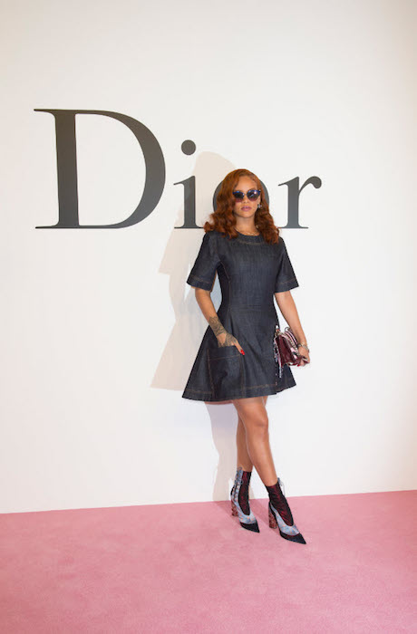 RIHANNA in DIOR at dior japan fw show FashionDailyMag