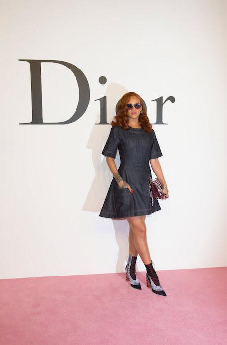 RIHANNA in DIOR at dior japan fw show FashionDailyMag