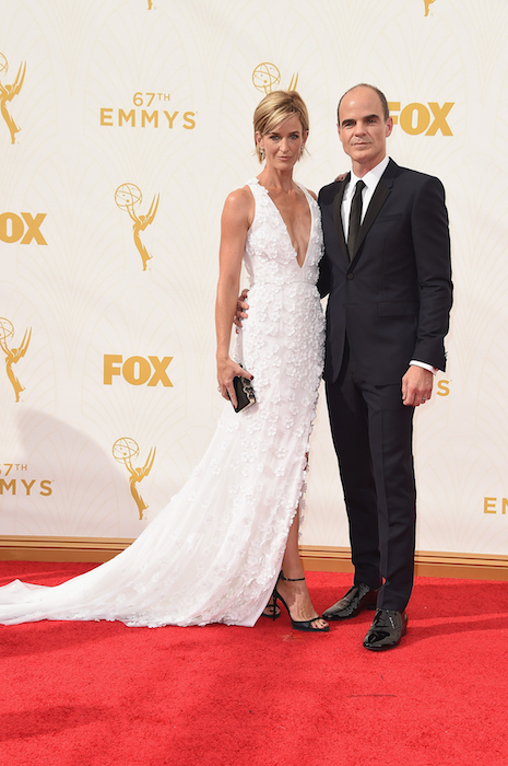 michael and karyn kelly at emmys 2015