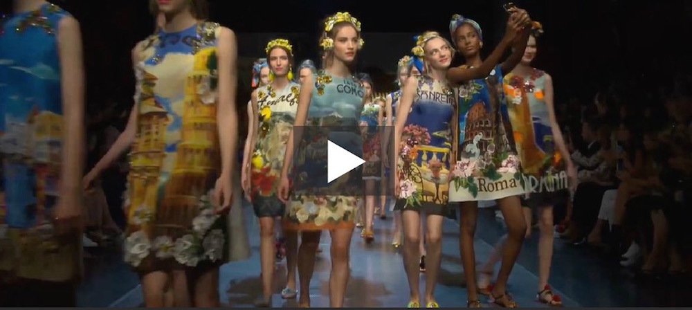 dolce gabbana ss16 mfw video fashiondailymag
