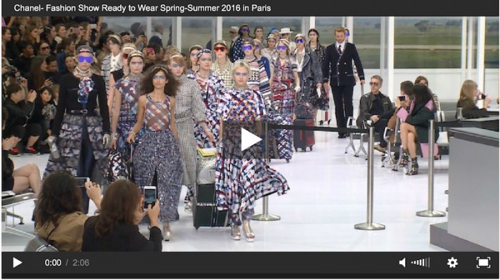 chanel ss16 fashion show video FASHIONDAILYMAG