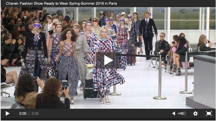 chanel ss16 fashion show video FASHIONDAILYMAG