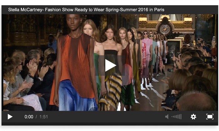 stella mccartney ss16 pfw show video
