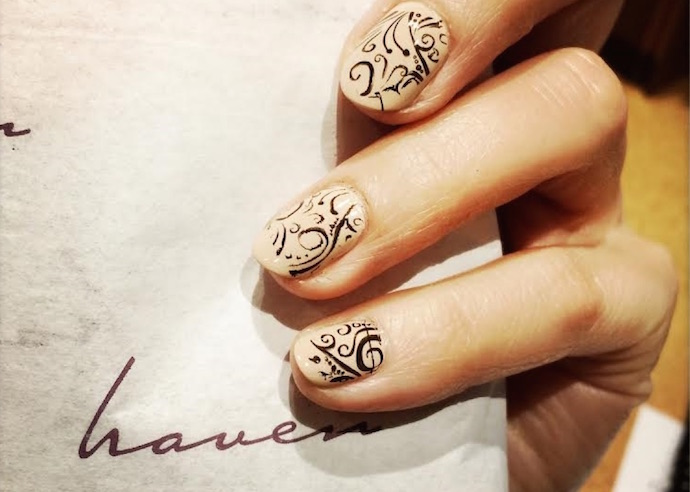 nail art at haven spa  hostess gift guide 2015 FashionDailyMag 1