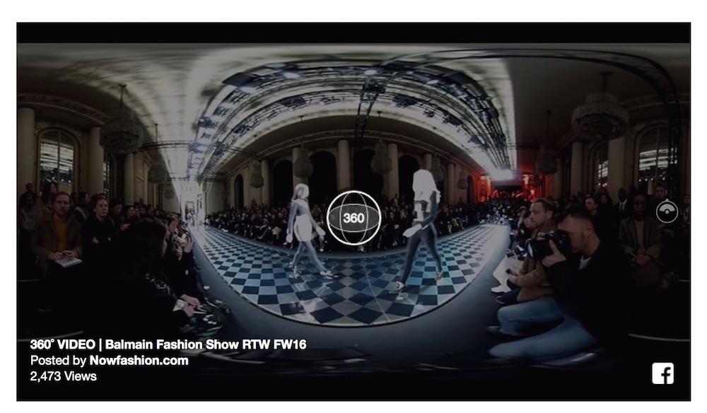 balmain 360 video NowFashion FashionDailymag