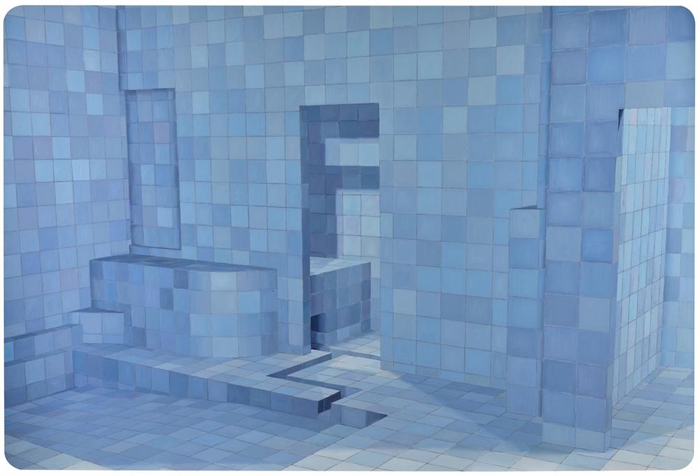 Adriana Varejão, Blue Sauna, 2003