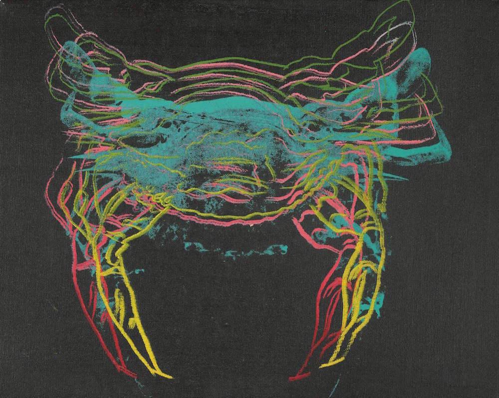 Andy Warhol, Crab, 1982, acrylic and silkscreen on canvas, £50,000 -70,000