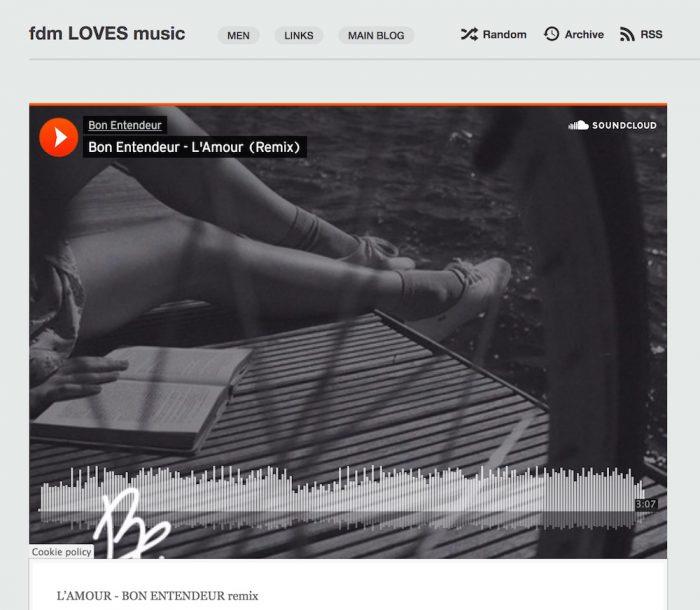FRENCH MUSIC L'AMOUR bon entendeur fdmlovesmusic soundcloud