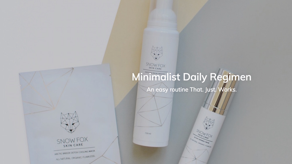 MINIMALIST SKIN CARE SNOW FOX FASHIONDAILYMAG