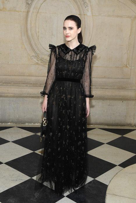rachel brosnahan Christian Dior PHOTOCALL COUTURE SS19 PARIS fashion daily mag