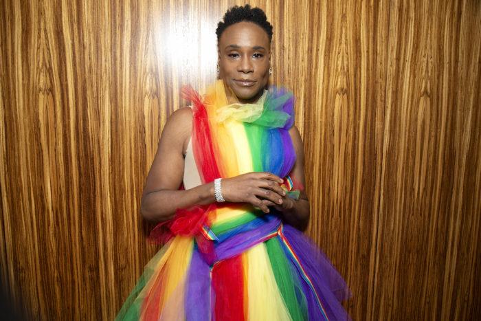 Billy Porter gets ready for WorldPride NYC 2019 on June 30, 2019 in New York City. (Photo by Santiago Felipe/Getty Images) fashiondailymag