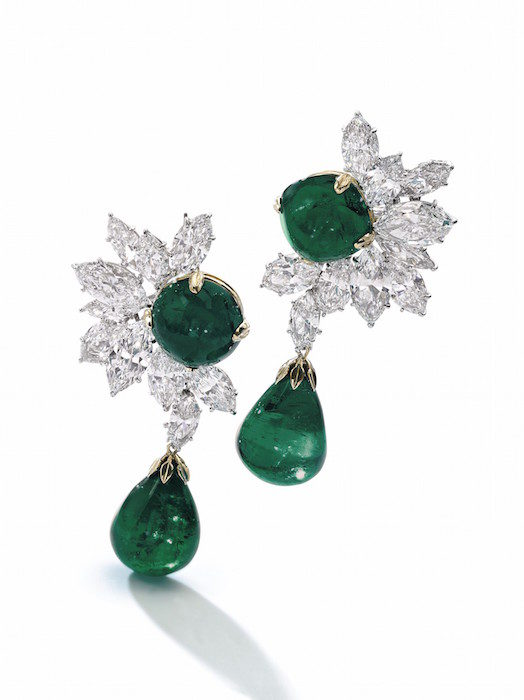 Colombian emerald and diamond earrings, Harry Winston - Magnificent Jewels and Noble Jewels Sotheby's Geneva 13 nov 2019