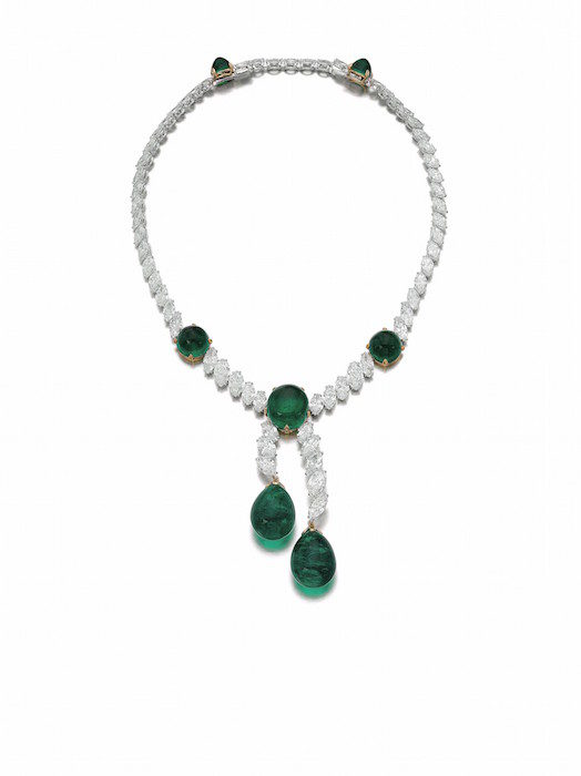 Colombian emerald and diamond necklace, Cartier - Magnificent Jewels and Noble Jewels Sotheby's Geneva 13 nov 2019