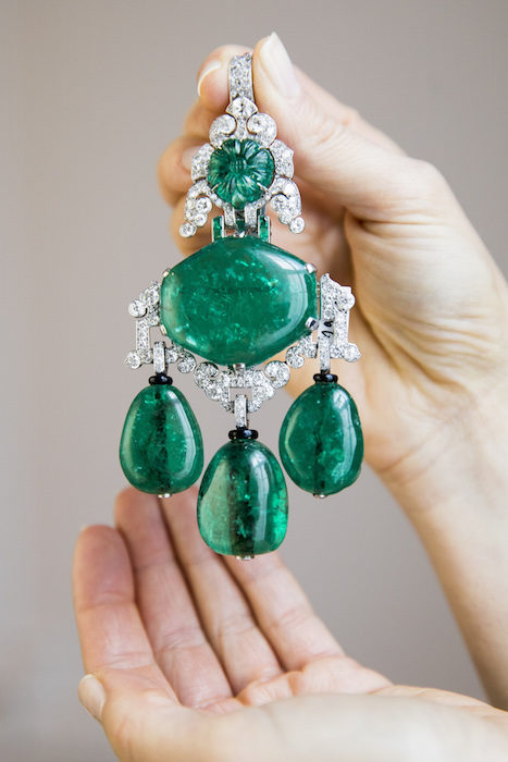 Colombian emerald and diamond pendant-brooch combination, Cartier, 1927 - Model -Magnificent Jewels and Noble Jewels Sotheby's Geneva 13 nov 2019