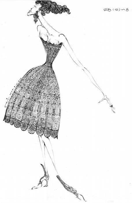 GuoPeiXSotheby's Sketch, 'Xiao Jin' FashionDailyMag fashion brigitteseguracurator
