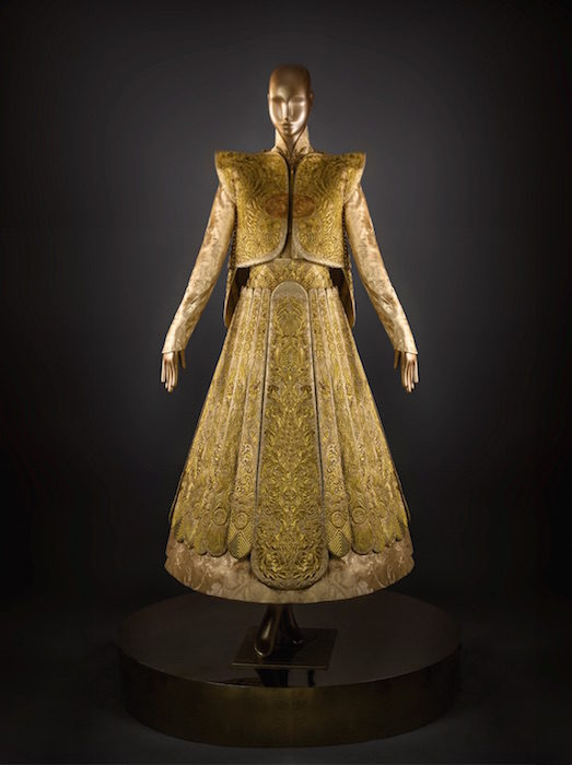 Lot 15 Guo Pei, Gold Chinese Traditional Bridal Dress, Pure gold embroidery thread, leather, European imported fabric (est. £500,000-700,000) (7) on FashionDailyMag Brigitteseguracurator at 10.02.09 AM