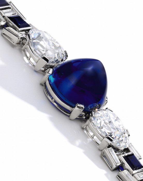 Sapphire and diamond bracelet, Cartier, 1927