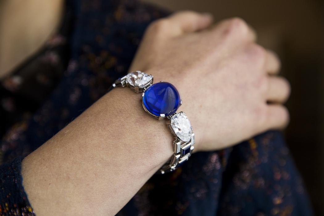 Sapphire and diamond bracelet, Cartier, 1927 - Model landscape -Magnificent Jewels and Noble Jewels Sotheby's Geneva 13 November 2019